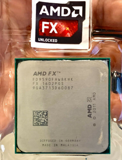AMD FX-9590 Black Edition Unlocked 8-Core 4.7 - 5.0GHz 220W - Fastest AM3+ CPU! | eBay