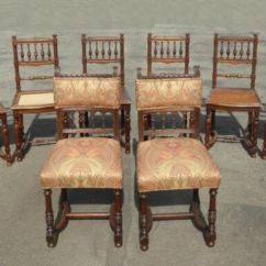 Antique Cane Dining Room Chairs Office Chair Booster Seat Set Eight Vintage Ornate Spanish Style W Seats