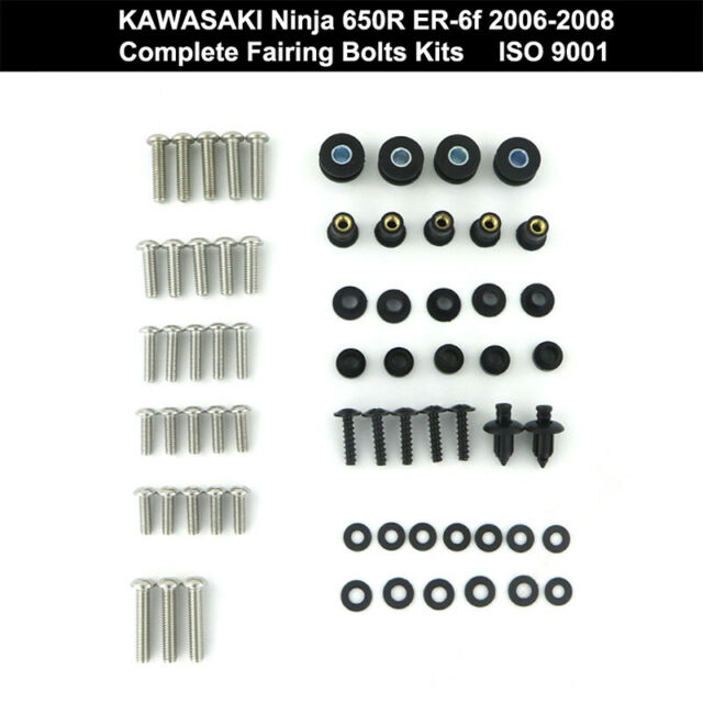 Full Fairing Bolts Screws Nut Kit Fit For KAWASAKI Ninja