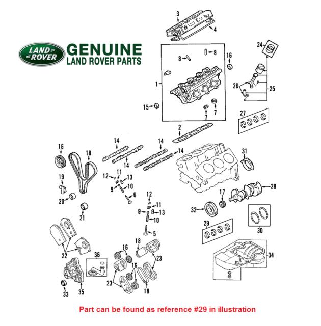 For Land Rover Freelander 2002-2005 Upper Main Bearing