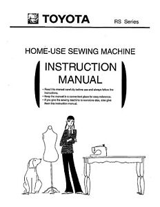 TOYOTA RS2000 Single Dial Sewing Machine Owners Manual