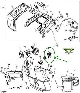 John Deere X300 X300R X304 X305R X310 X320 X324 PTO Mower