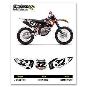 2007-2010 KTM SX-SXF Dirt Bike Graphics Motocross Custom