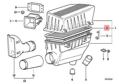 Genuine BMW E31 E34 E36 Cabrio Coupe Engine Air Filter