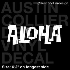 65quot ALOHA vinyl decal car window laptop sticker hawaii