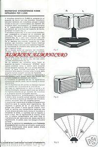 ISTRUZIONI MICROFONO STEREOFONICO PHILIPS N 8402 ANNI 60