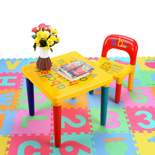 activity table and chair set folding picnic chairs argos 777kids play letter education learning kids