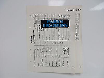 Suzuki Quick Reference Service Manual Data Sheet VS1400GLV