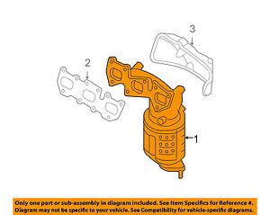 2002 hyundai santa fe parts diagram 1991 gmc sierra tail light wiring exhaust system nemetas aufgegabelt oem 07 09 manifold 285103e740 ebay rh m it accent