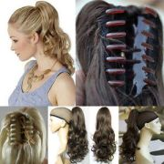 clip in ponytail pony tail hair