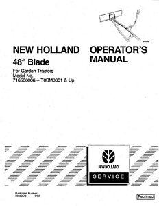 NEW HOLLAND 48 Inch Dozer Blade for Garden Tractors