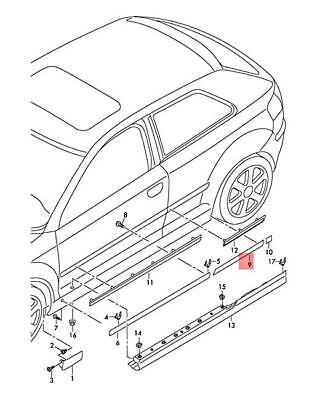 Genuine AUDI A3 S3 Sportback Lim. Quattro. Sportb. Door