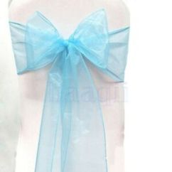 Baby Blue Chair Covers Alps Mountaineering 5x Organza Sash Cover Bow Wedding Craft Meeting Venue Decor Image Is Loading