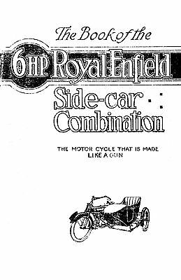 (1082) 1920's Royal Enfield 6hp sidecar model instructions