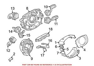 For BMW Genuine Steering Column Wiring Harness 61316911590
