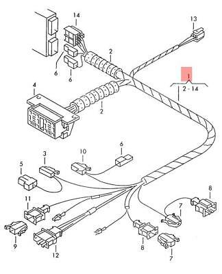 Genuine VW Wiring Harness For Immobilizer NOS VW Golf