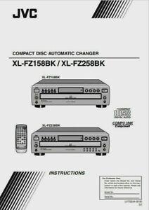 JVC-XL-FZ158BK/XL-FZ258BK CARICATORE CD-istruzioni
