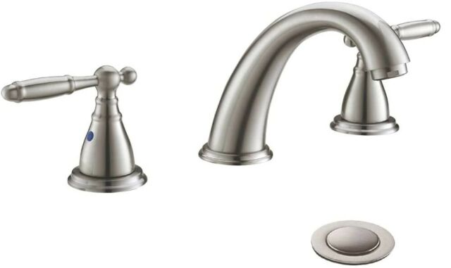 delta lahara 8 in widespread 2 handle bathroom faucet in chrome r5
