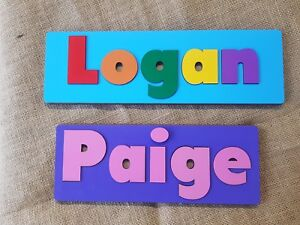 personalised name puzzle colour