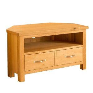 details sur chene coin meuble tv unite avec tiroir etagere newlyn meubles en bois massif meuble afficher le titre d origine