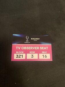 Ticket UEFA Supercup 2020 FC Bayern München vs FC Sevilla TV Media FCB Finale | eBay