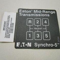 Eaton Fuller Transmission Diagram Rangemaster Cooker Hood Wiring 21789 Shift Label Ebay Image Is Loading