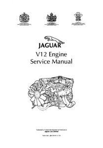 JAGUAR 6.0 LITRE V12 ENGINE SERVICE MANUAL REPRINTED COMB