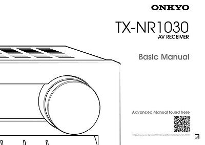 Onkyo Integra TX-NR1030 Basic Receiver Owners Instruction