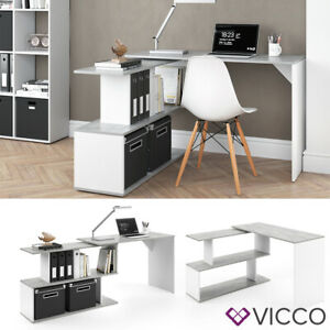 details sur bureau en angle vicco levia bureau pc table de travail bureau informatique