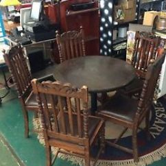 Old Wood Chairs Drexel Dining 100 Year Wooden With Table Ebay Image Is Loading