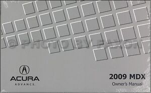 2009 Acura MDX Owners Manual NEW Original Owner Guide