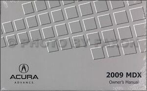 2009 Acura MDX Manuel Du Propriétaire Neuf Original Guide