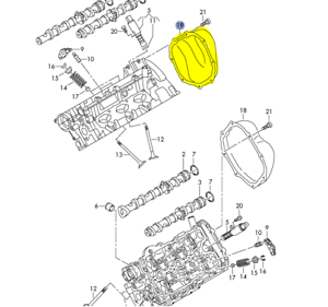 AUDI A4 A6 3.2L 2005-08 RIGHT SIDE TIMING CHAIN COVER ON