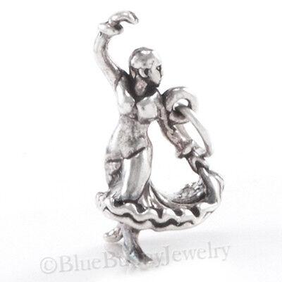 3D FLAMENCO DANCER Pendant Charm solid 925 Sterling Silver