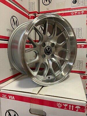 4x100 Honda Wheels : 4x100, honda, wheels, Silver, Machine, Lip/face, Wheels, Honda, Civic, Integra