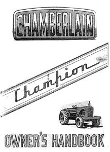 Chamberlain Champion (6G) 1956 operators manual (photocopy