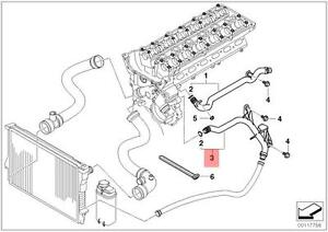 Genuine BMW E38 E39 E46 E85 O-Rings Coolant Pipe Water