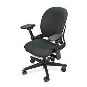 leap chair v2 vs v1 belava pedicure steelcase in black fabric ebay image is loading