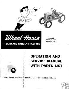 Wheel Horse Suburban Operation,Service & Parts Manual