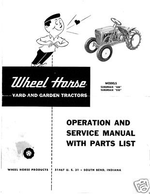 Wheel Horse Suburban Operation,Service & Parts Manual