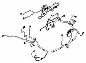 2008 08 Chrysler PT CRUISER ENGINE BAY WIRING HARNESS FUSE