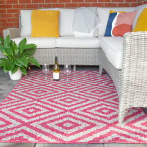 details about pink plastic rug for garden outdoor area rugs flatweave washable easy care rug