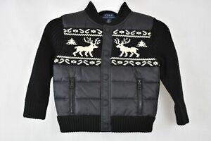 Polo Ralph Lauren Toddler Boys Merino Wool Hybrid Jacket Black Multi 2-2T   eBay