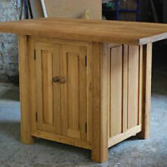 Oak Kitchen Islands Sinks Stainless Custom Made Handmade Solid Island Breakfast Bar 45mm Image Is Loading
