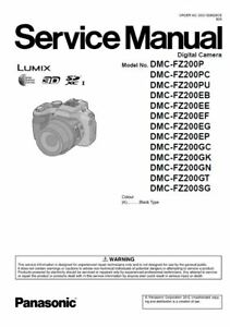 Panasonic Lumix DMC FZ200 Service Manual and Repair Guide