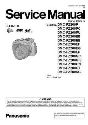 Panasonic Lumix DMC FZ200 Service Manual and Repair Guide