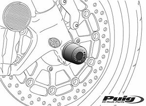 PUIG AXLE SLIDERS FRONT Yamaha YZF-R1, R1-LE,YZF-R6 06 07