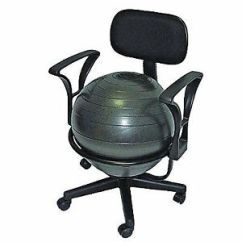 Office Chair Exercise Ball Bar Stool Design Balance Stability With Arms Yoga For The Fitness Desk