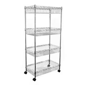 124x60x35cm Real Chrome Wire Rack Metal Steel Kitchen