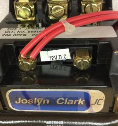 joslyn clark 5001a3000 42 contactor size 1 20amp 3 phase 5001a300042 ebay [ 1600 x 1280 Pixel ]